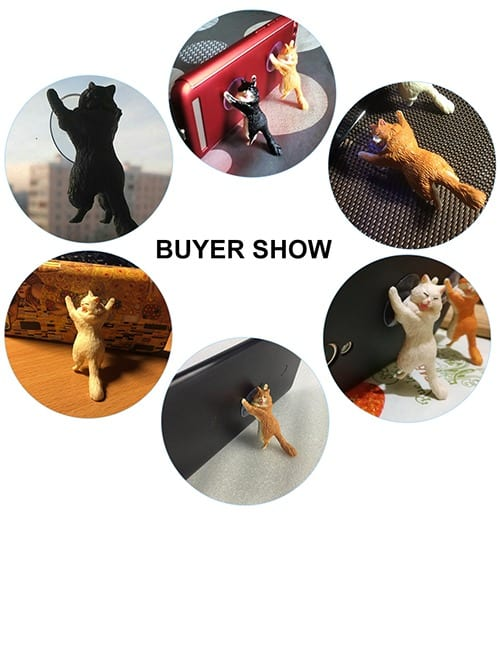 Yikes! Fun Suction Cup Cat Phone Holder. 6 Cute Crying Cats Calling You Now !! 8