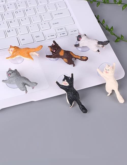 Yikes! Fun Suction Cup Cat Phone Holder. 6 Cute Crying Cats Calling You Now !! 7