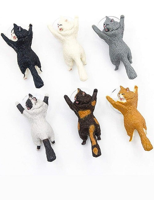 Yikes! Fun Suction Cup Cat Phone Holder. 6 Cute Crying Cats Calling You Now !! 5