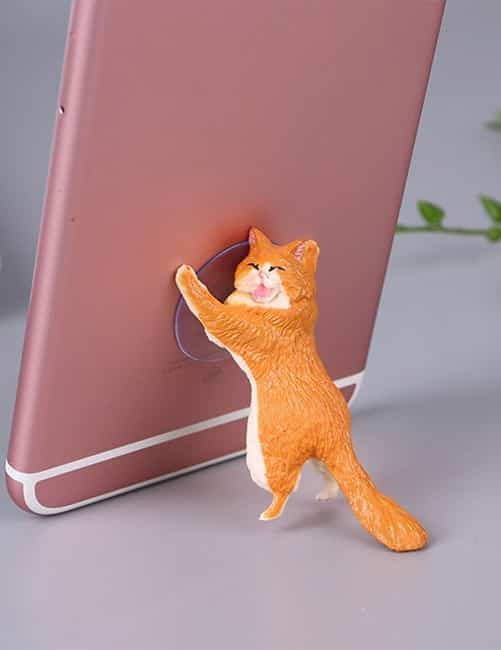 Yikes! Fun Suction Cup Cat Phone Holder. 6 Cute Crying Cats Calling You Now !! 14