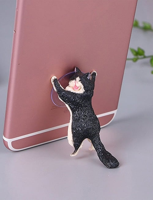 Yikes! Fun Suction Cup Cat Phone Holder. 6 Cute Crying Cats Calling You Now !! 13