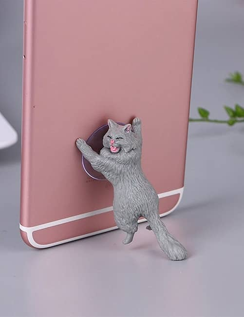 Yikes! Fun Suction Cup Cat Phone Holder. 6 Cute Crying Cats Calling You Now !! 12