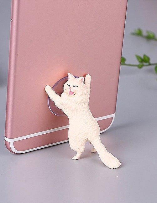 Yikes! Fun Suction Cup Cat Phone Holder. 6 Cute Crying Cats Calling You Now !! 11