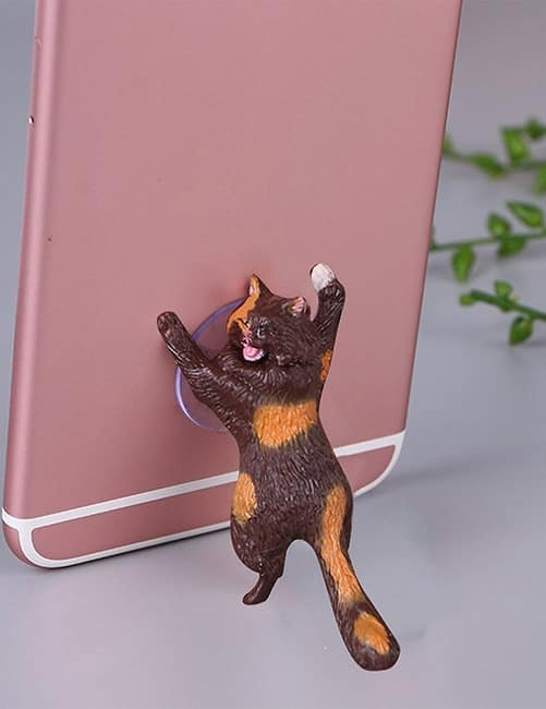Fun Cat Phone Holder Suction Stand. Cute Crying Cats. 10