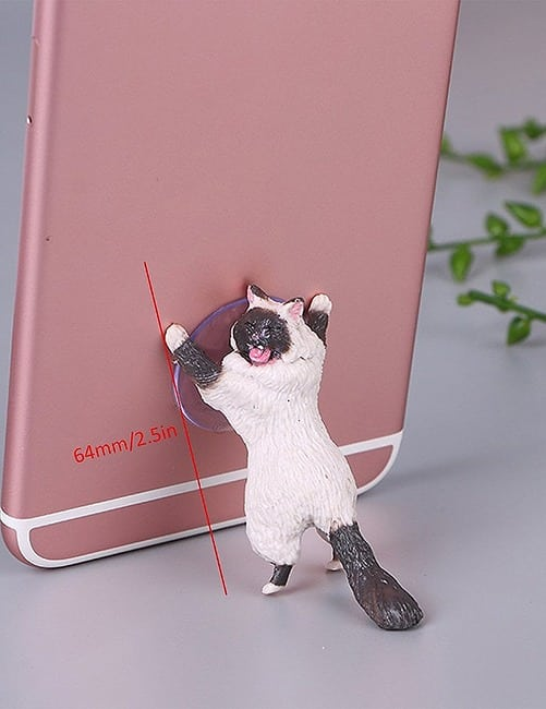 Yikes! Fun Suction Cup Cat Phone Holder. 6 Cute Crying Cats Calling You Now !! 9