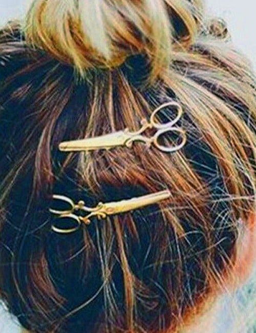 These 2 Adorable, French Antique Metal Scissors Hair Clips. The Essence of Gay Paree? 4