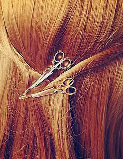 These 2 Adorable, French Antique Metal Scissors Hair Clips. The Essence of Gay Paree? 6