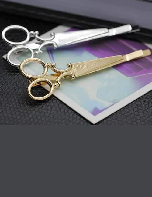 These 2 Adorable, French Antique Metal Scissors Hair Clips. The Essence of Gay Paree? 17