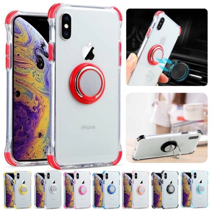 100% Crystal Clear iPhone Case. w Ring Holder. Bare Ur Phone. 4