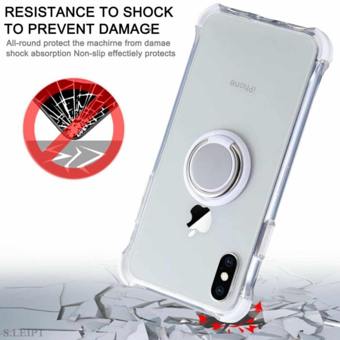 100% Crystal Clear iPhone Case. w Ring Holder. Bare Ur Phone. 3