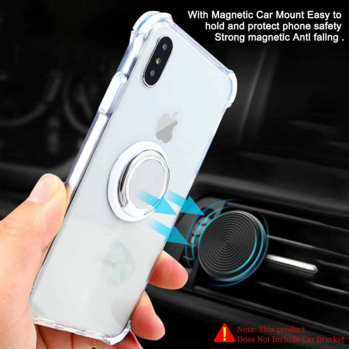 100% Crystal Clear iPhone Case. w Ring Holder. Bare Ur Phone. 1